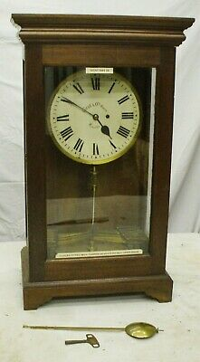 Rare Gents Of Leicester Night Watchmans Electric Recording Clock Not Master