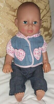 """Zapf Creations Talking,Moving,Crawling Dressed 17 """" Baby Annabell Doll 2009"""