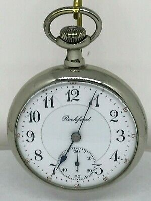 Rockford 16s 17 Jewel Grade 575  circa 1901 pocket watch running