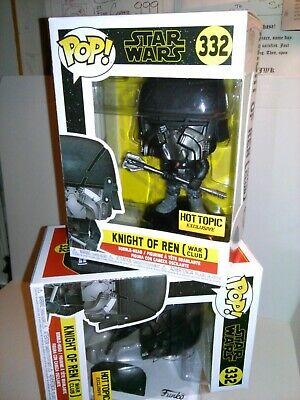 Funko Pop *FREE Protector* STAR WARS Knight of Ren WAR CLUB#332 Hot Topic Excl