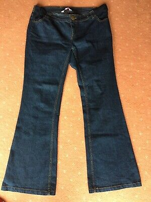 Ladies Size 14 Blue Stretch Maternity Jeans RED HERRING 32 Inch Inside Leg Wide