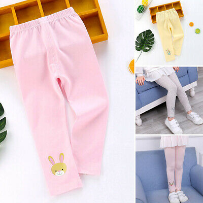 Girls Kids Lovely Cartoon Printed Comfy Bottoms Pants Leggings Autumn Trousers