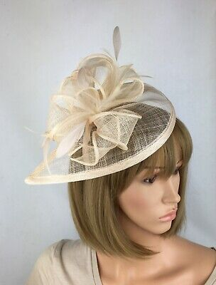 Pale Nude Fascinator Blush Wedding Hatinator Mother Of The Bride Ascot Races