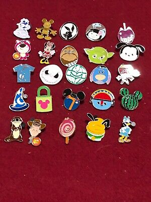 25 Disney pins Assorted Trading D As Seen Lot x