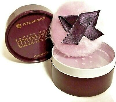 Yves Rocher Fruits Noirs Blackberry Sparkling Body Powder Limited Edition GIFT