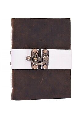 Handmade Paper Journal Leather Vintage Dairy Planner For Men Women Unlined Paper
