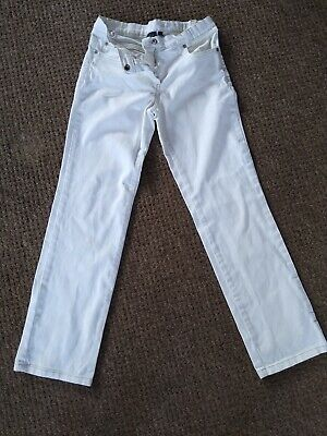 Mini Boden White Trousers 11Y Adjustable Waist