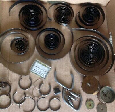 Clock Mainsprings Large Springs Barrels Retaining Rings Parts Clockmakers Spares