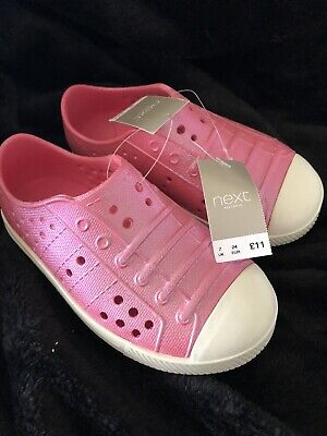 Next Girls Slip On Jelly Style Shoes- Infant Size 7 - Pink Sparkly - Bnwt