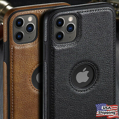 For iPhone 11 / 11 Pro Max SLIM Luxury Leather Back Ultra Thin TPU Case Cover
