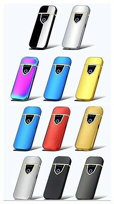 USB Rechargeable Flameless Windproof Smart Touch Lighters +++ Free Gift +++