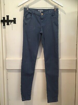 Gorgeous Soft Mid Blue Girls Massimo Dutti Skinny Twill Trousers  10-11 Y Used 2