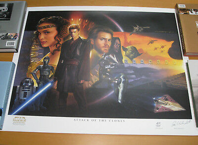 Limited Edition Star Wars Attack of the Clones Art Print by Jerry Vanderstelt