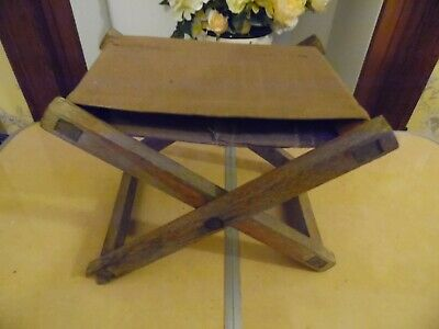 Child's Folding Camp Stool 31Cm Wide X 26Cm Tall When Open Vintage