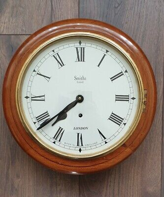 """Antique style Wall Clock 12.5"""" Round Dial Oak Large - 40cm in diameter"""