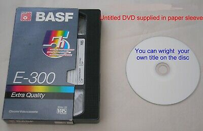 VHS,VHS-C,mini DV OR 8 MM VIDEO TAPE TO DVD DISC BASIC TRANSFER (no editing)