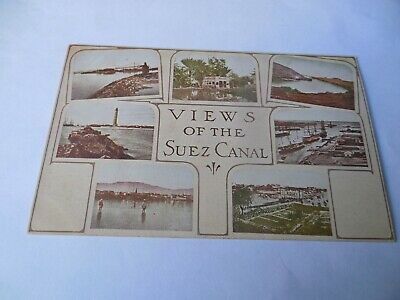1909 Teddy Theodore Roosevelt Expedition To Africa Photo Postcard Suez Canal