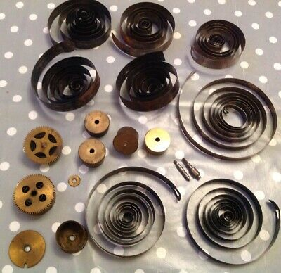 Clock Mainsprings Large Springs Barrels Parts Clockmakers Spares