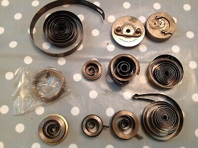 Clock Mainsprings Large Springs Barrels Case Wind Parts From Clockmakers Spares