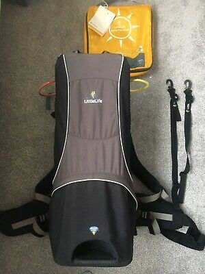Littlelife Cross Country Backpack Baby Toddler Travel Seat Carrier Sun Shade