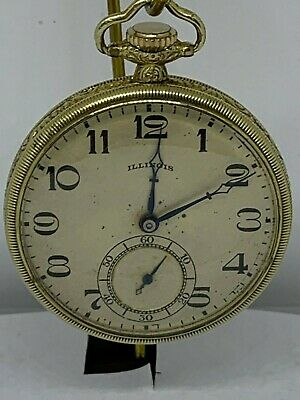 Illinois Steward Special Grade: 273 12s 17J circa 1922 pocket watch running