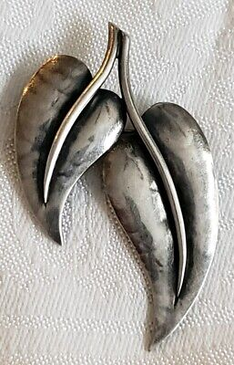 Vintage Brooch Marked Jopol Georg Jensen ? Sterling Silver Collectable Pin Rare