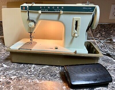 Singer Fashion Mate 257 Zig Zag Sewing Machine Heavy Duty Foot Pedal Case Used