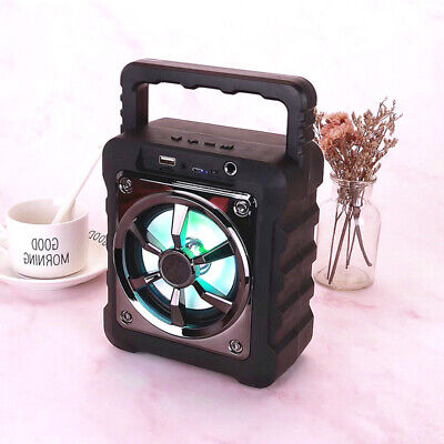 Bluetooth Party DJ Karaoke LED Speaker With Rechargeable USB TF FM Portable