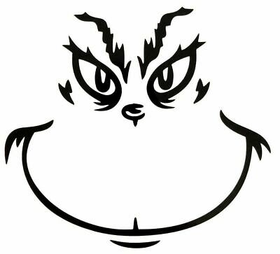 5& GRINCH FACE Smile Decal Sticker Christmas Car Auto ...