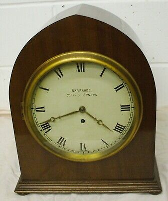 Large Single Wire Fusee Bracket Clock By Barrauds