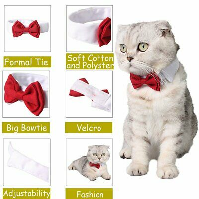 Puppy Dog Cat Pet Bow Tie Bowknot Neck Dickie Necktie Necklace Collar Chihuahua