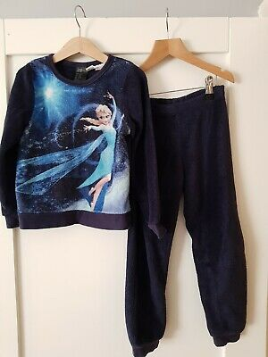 Navy Blue Warm Winter Frozen Elsa Pyjamas 4-6 Years