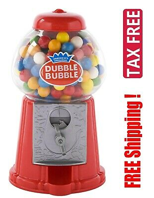 Classic Vintage Red Dubble Bubble Gum Machine Gumball Coin Bank Candy Dispenser