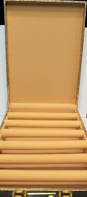 Luxury Indian Bangle Jewellery Storage Box Antique 6 Tier Roll  With Lock Code