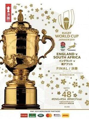 2019 Rugby World Cup Final Programme England v South Africa
