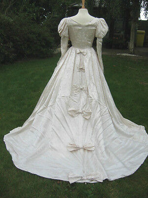 "Vintage Bridal Gown Medieval Design 34"" Bust 10 - 12 Stage Costume Play Dress"