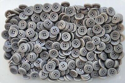 Q155A Q155Bx Q155C 15mm 20mm 25mm Charcoal Grey Satin 4 Hole Quality Buttons