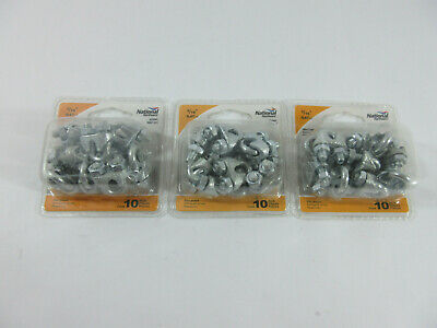 10 Pack NATIONAL HARDWARE 3//16 N889-014 Wire Cable Clamps ZINC Plated
