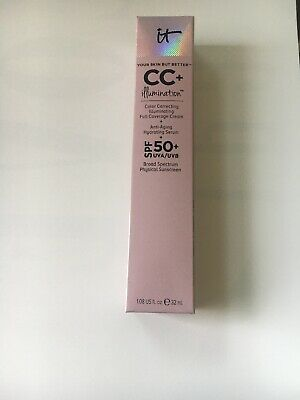 IT Cosmetics CC+ Cream (LIGHT) Your Skin but better Illumination SPF 50. NIB.