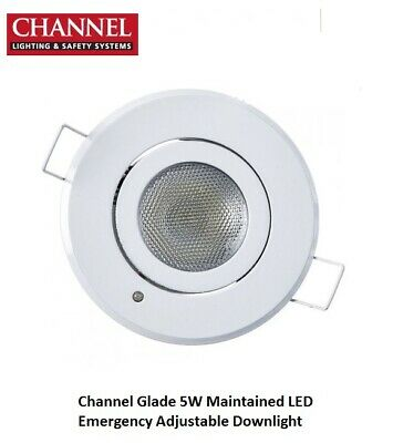 "Channel Glade 5W Maintained LED Emergency Adjustable Downlight ""Brand New Boxed"""