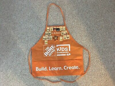 HOME DEPOT Kids Workshop Apron And 18 Pins