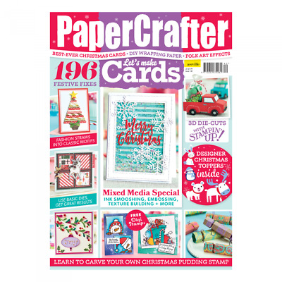 Papercrafter Magazine 140 - free die cuts and Christmas paper - NEW - craft mag