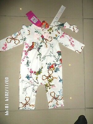 New With Tag Ted Baker Baby Girl Graphic Bodysuit Age 0-3 Months