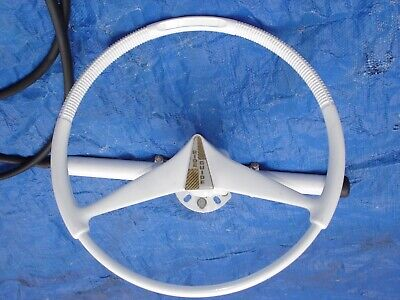 Vintage Mercury Ride Guide Steering Wheel and Cable Assembly