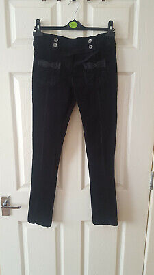 Marks and Spencer Autograph Girls Black Corduroy Trousers