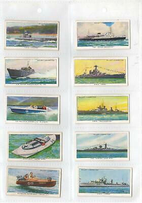 1930's WILLS CIGARETTE CARDS SPEED - FULL SET 50/50 ALL VG - EXCELLENT Condition