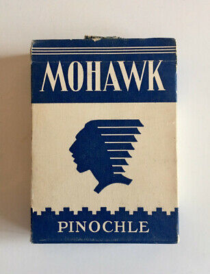Vintage Mohawk Pinochle Playing Cards NY Consolidated w/ Bee Club Special Sample