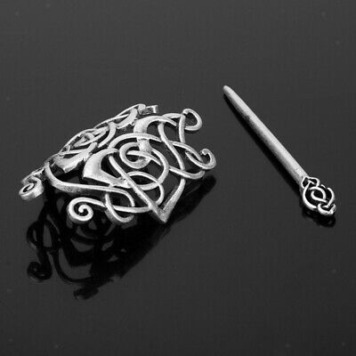 Antique Silver Viking Celtic Hair Clip Celtic Hairpin Stick Hair Accessories