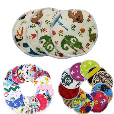 1PC Bamboo Reusable Breast Pads Nursing Pads Waterproof Washable Feeding Pad  oq