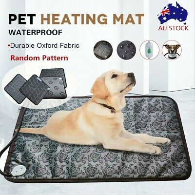Pet Electric Heat Heated Heating Heater Pad Mat Blanket Bed Dog Cat Bunny New